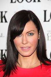 Linzi Stoppard wore a touch of muted bubblegum pink lipstick at the 'LOOK' magazine 5th Birthday Party.