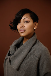 Meagan Good wore cool exaggerated cat eye liner while at the 2012 Sundance Film Festival.