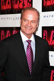 Kelsey Grammer sported a busy polka dot and stripe ensemble at the 'La Cage Aux Folles' opening.