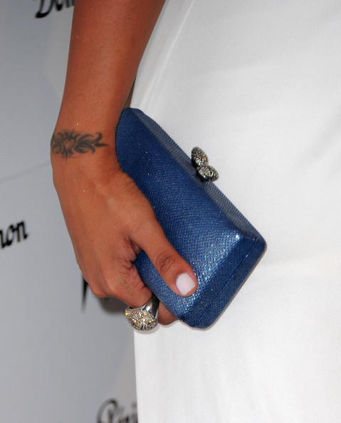 La La Anthony Hard Case Clutch