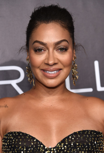 La La Anthony Geommetric Earrings [gabrielle,la la anthony,hair,eyebrow,hairstyle,beauty,lip,smile,black hair,eyelash,premiere,long hair,new york city,cipriani wall street,arrivals,angel foundations angel ball 2017]