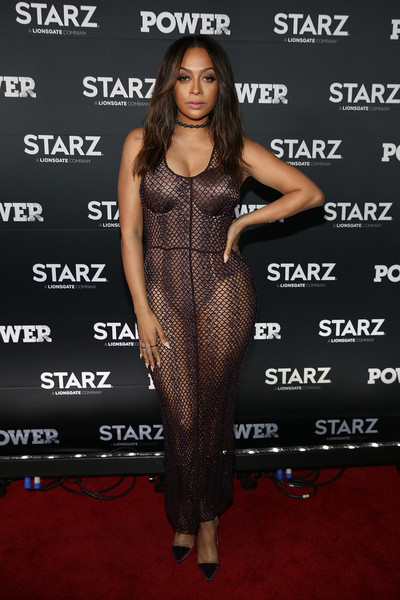La La Anthony Pumps [power season four premiere,season,starz original,clothing,dress,carpet,red carpet,shoulder,fashion,premiere,fashion model,cocktail dress,joint,la la anthony,power,washington d.c.,starz,the newseum,premiere]