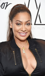 La La Anthony looked sweet and youthful wearing this ponytail at the launch of her denim collection.