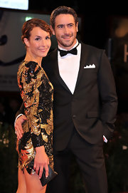 Ola Rapace completed his formal attire outfit with a posh bowtie for his attendance at the 'La Passione' premiere.