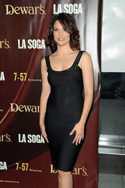 Denise showed off her cool bandage dress while hitting the 'La Soga' premiere in New York.