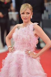 Eleonora Carisi flaunted a huge ring at the 2019 Venice Film Festival opening ceremony.