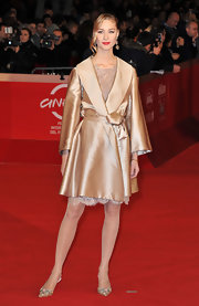 Beatrice Borromeo covered up in style with this formal silk jacket at The 5th International Rome Film Festival.