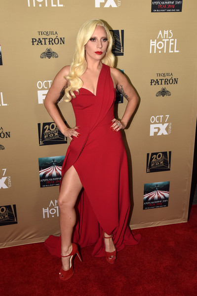 Lady Gaga One Shoulder Dress