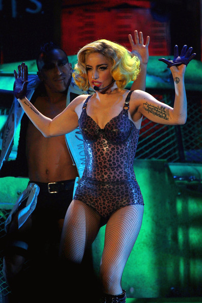 Lady Gaga Leather Gloves [pictures,monster of ball,performance,entertainment,performing arts,thigh,leg,stage,performance art,event,public event,music artist,lady gaga,editors note,publication,arena,hamburg,germany,lady gaga in concert,tour]