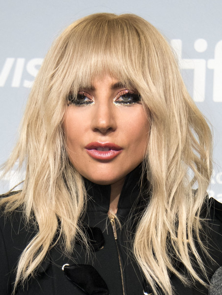 Lady Gaga Long Wavy Cut with Bangs