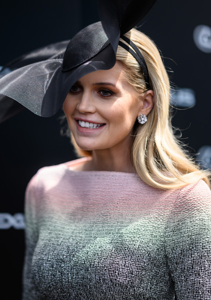 Lady Kitty Spencer Diamond Studs [kitty spencer,celebrities,lexus marquee,hair,clothing,hat,hairstyle,beauty,lip,fashion,blond,fashion accessory,headgear,melbourne cup day,melbourne,australia,flemington racecourse]
