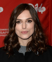 Keira Knightley looked very girly with her shoulder-length curls at the 'Laggies' premiere.