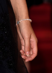 Keira Knightley wore a dainty pearl bracelet to the premiere of 'Laggies' at the 2014 Toronto International Film Festival.