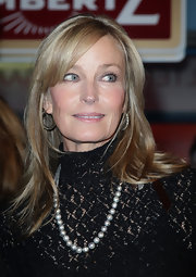 Bo Derek styled her hair in a simple straight cut with bangs for Lambertz Monday Night.