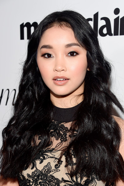 Lana Condor Long Wavy Cut [hair,face,eyebrow,hairstyle,black hair,long hair,lip,chin,beauty,skin,marie claire hosts,lana condor,cver stars,marie claire,fresh faces,cover stars,issue,california,party,red carpet]