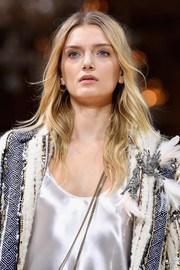 Lily Donaldson sported boho waves while walking the Lanvin fashion show.