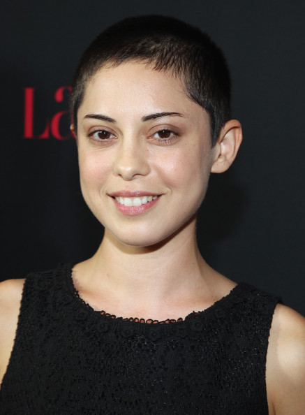 Rosa Salazar went masculine-chic with this buzzcut at the Hollywood Hot List party.