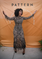 Tracee Ellis Ross was diva-glam in a leopard-beaded gown by Ralph & Russo Couture at the launch of Pattern Beauty.