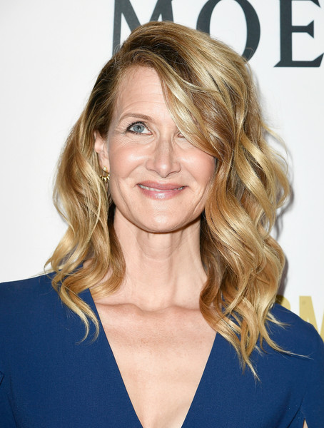 Laura Dern Medium Wavy Cut [hair,blond,human hair color,hairstyle,beauty,chin,layered hair,long hair,shoulder,hair coloring,arrivals,laura dern,poppy,moet chandon celebrates 3rd annual moet moment film festival,california,los angeles,moet and chandon celebrates 3rd annual moet moment film festival and kick off of golden globes week,kick off of golden globes week]