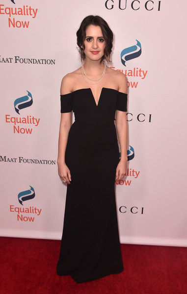 Laura Marano Off-the-Shoulder Dress [dress,clothing,shoulder,carpet,red carpet,hairstyle,premiere,joint,fashion,cocktail dress,arrivals,laura marano,beverly hills,california,the beverly hilton hotel,equality now,annual make equality reality gala]