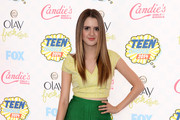Laura Marano Metallic Clutch