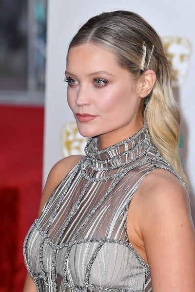 Laura Whitmore Barrette [hair,hairstyle,blond,eyebrow,beauty,lip,fashion,chin,long hair,premiere,red carpet arrivals,laura whitmore,ee,london,england,royal albert hall,british academy film awards]