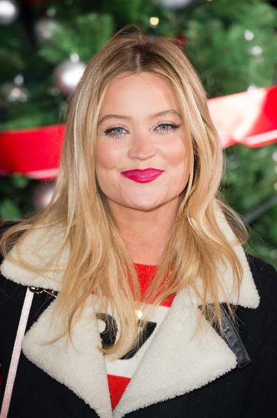 Laura Whitmore Berry Lipstick [vip preview,hair,blond,face,lip,hairstyle,beauty,long hair,layered hair,brown hair,smile,laura whitmore,winter wonderland,hyde park,london,united kingdom,hyde park winter wonderland,vip]