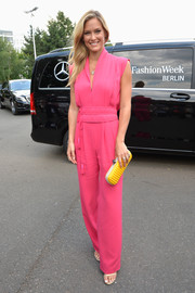 Bar Rafaeli was a vision in pink at Berlin Fashion Week.