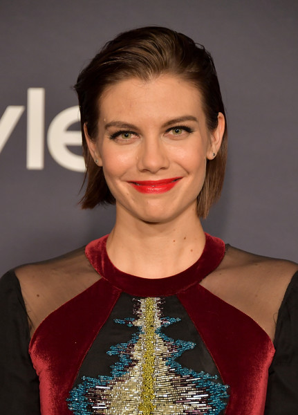 Lauren Cohan Side Parted Straight Cut