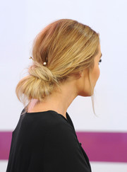 Lauren Conrad visited 'Style Code Live' wearing a lovely chignon adorned with pearl pins.