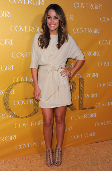 Lauren Conrad Strappy Sandals [clothing,white,dress,yellow,cocktail dress,fashion,footwear,hairstyle,fashion model,shoulder,arrivals,lauren conrad,covergirl cosmetics,covergirl cosmetic,west hollywood,california,party,50th anniversary party]