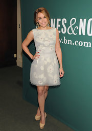 Lauren Conrad wore this floral mesh '50s dress to the promotion of her latest book.