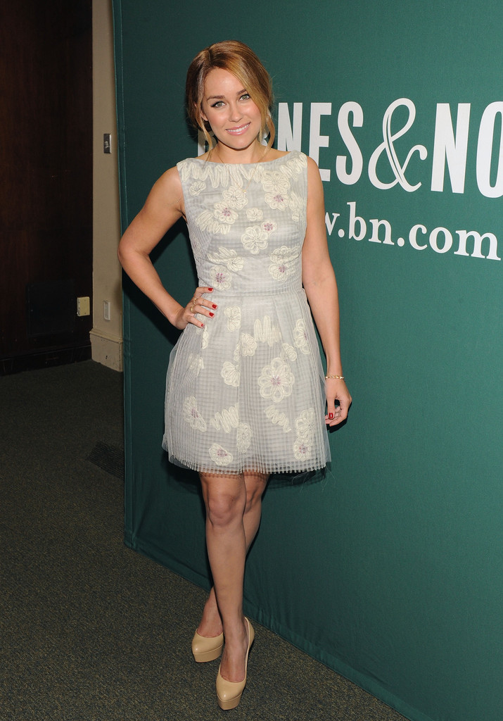 "TV personality/fashion designer Lauren Conrad signs copies of ""The Fame Game "" at Barnes & Noble Union Square on April 3, 2012 in New York City."