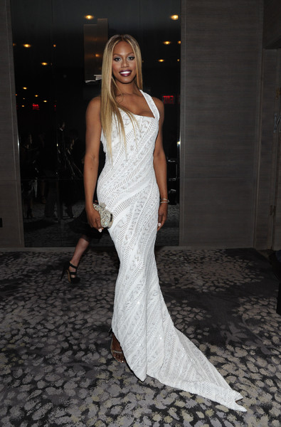 Laverne Cox Gemstone Inlaid Clutch [clothing,dress,fashion model,gown,fashion,shoulder,haute couture,long hair,fashion design,leg,laverne cox,daily front row third annual fashion media awards,new york,park hyatt,daily front row,show]