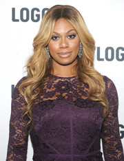 Laverne Cox wore her hair in a lovely cascade of waves during the 'T Word' screening.