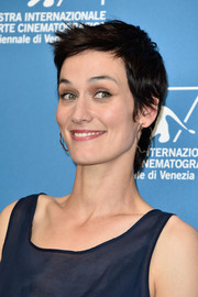 Clotilde Hesme looked edgy with her layered razor cut at the Venice Film Festival photocall for 'The Last Hammer Blow.'