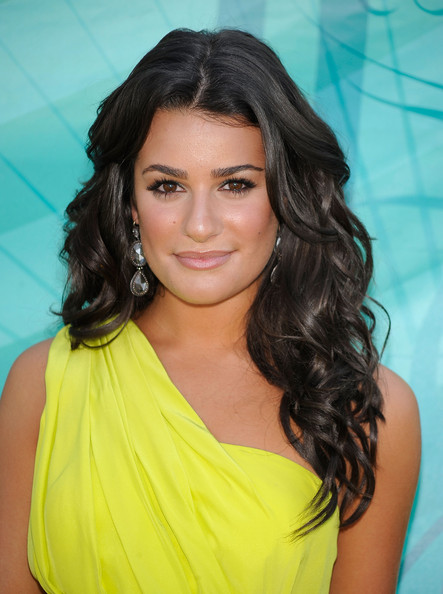 style bistro hairstyles on Actress Lea Michele Arrives At The 2009 Teen Choice Awards Held At