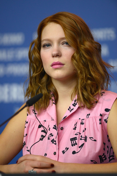 Lea Seydoux Medium Wavy Cut [berlinale international film festival,berlinale international film festival at grand hyatt hotel on february 14,la belle et la bete die schoene,hair,face,beauty,hairstyle,lady,blond,long hair,lip,brown hair,photography,lea seydoux,germany,biest,la,berlin,press conference,conference]