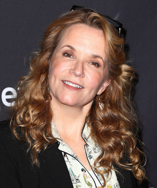 Lea Thompson Long Curls [television show,hair,face,hairstyle,chin,blond,eyebrow,long hair,forehead,brown hair,layered hair,mom,lea thompson,arrivals,los angeles,dolby theatre,california,paley center for media,paleyfest,cbs]