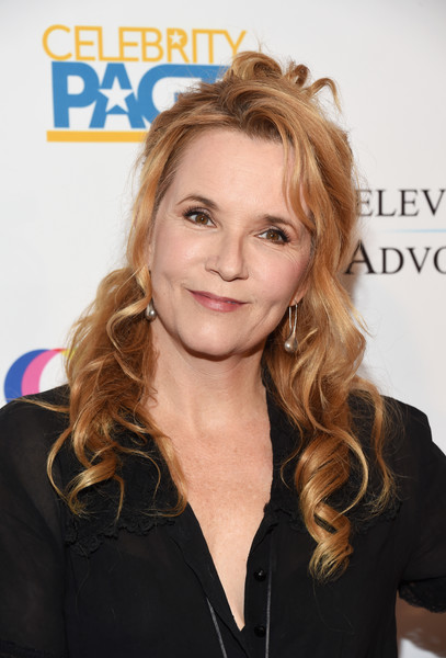 Lea Thompson Half Up Half Down [hair,face,hairstyle,blond,eyebrow,beauty,long hair,hair coloring,brown hair,layered hair,arrivals,lea thompson,sofitel los angeles,california,beverly hills,creative coalition,television industry advocacy awards]