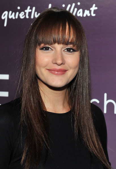 Leighton Meester Long Straight Cut with Bangs