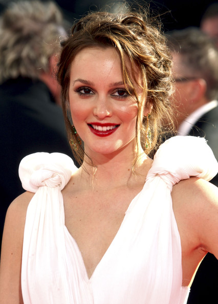 Leighton Meester Messy Updo
