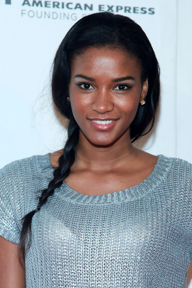 Leila Lopes Long Braided Hairstyle
