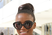 Leila Lopes Loose Bun