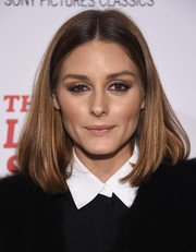 Olivia Palermo kept it classic and sweet with this center-parted lob at the New York screening of 'The Leisure Seeker.'