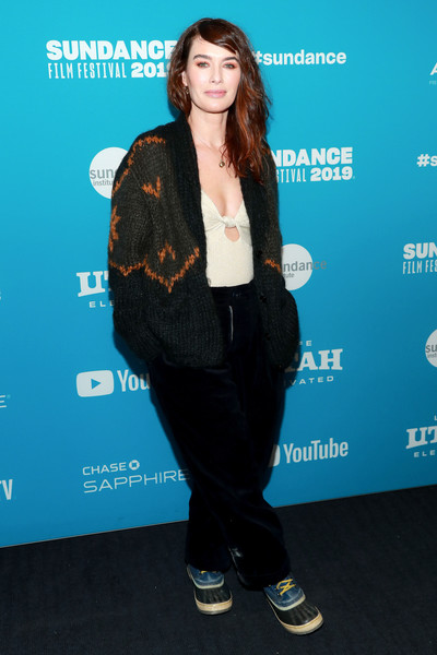 Lena Headey Leather Sneakers [surprise screening of ``fighting with my family,electric blue,carpet,smile,premiere,lena headey,utah,park city,the ray,sundance film festival]