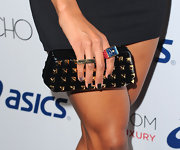 Ciara completed her short tips with dark nail polish. The singer added a little flair to her look with a decorative pinky nail.