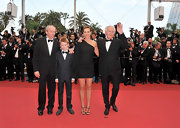 Cecile De France strutted her stuff in France in this one-shoulder LBD. The whole thing was c'est bon!