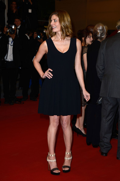 Chiara Mastroianna stuck to a fashion staple when she chose this sleeveless pleated LBD.