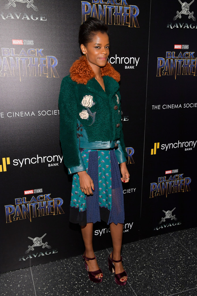 Letitia Wright Fleece Jacket Newest Looks Stylebistro